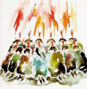 La unción - dia de pentecostes