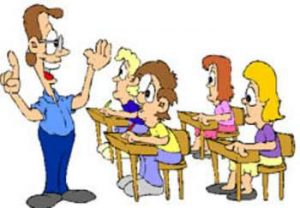 This free clipart picture is of a class of students listening to the teacher. The kids in this illustration are sitting in desks in their classroom. The image is provided by http://www.webweaver.nu/. For terms of use please go to: http://www.webweaver.nu/legal.shtml