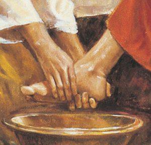 Lavando los pies